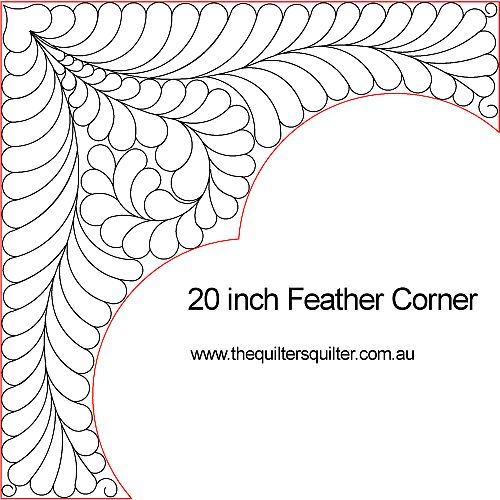 20in Feather corner