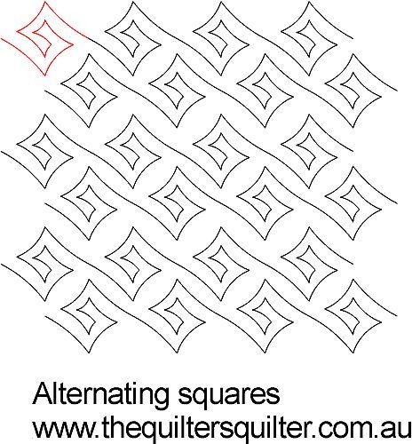 Alternating squares