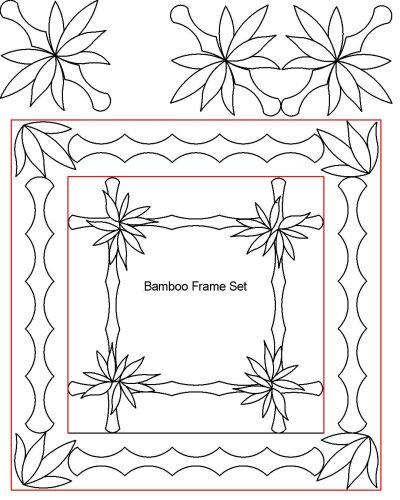 Bamboo frame set
