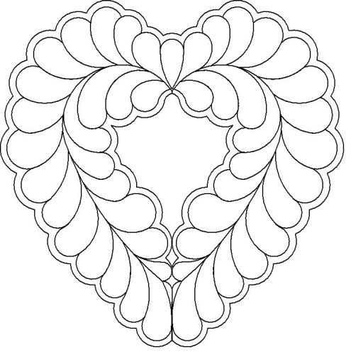 Belinda Feather heart motif