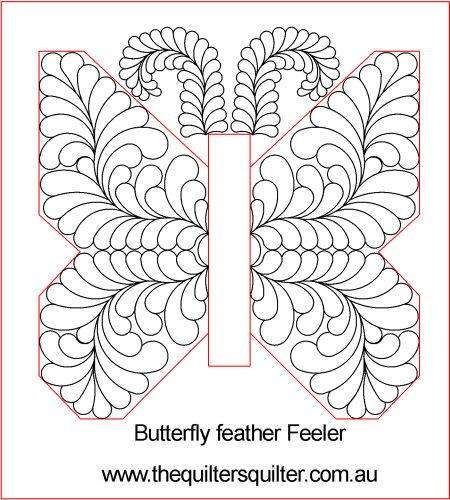 Butterfly feather fills