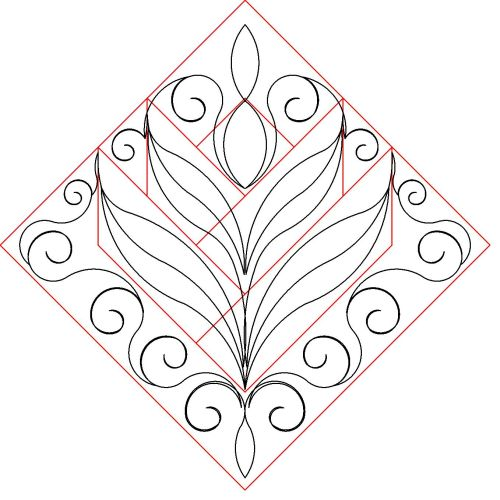 Cactus flower block pattern