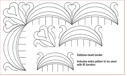 Debbies heart Border