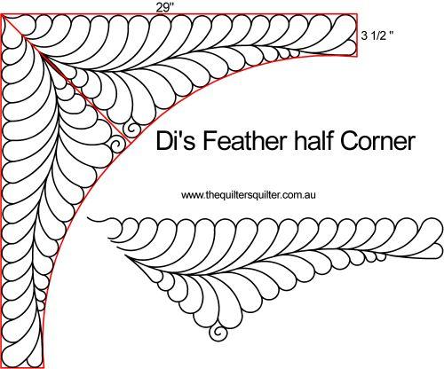 Di Feather half corner