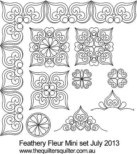 Feathery Fleur mini set