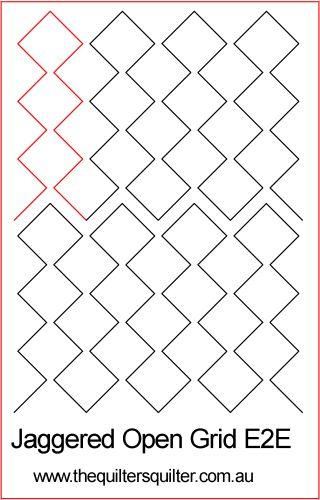 Jaggered open grid