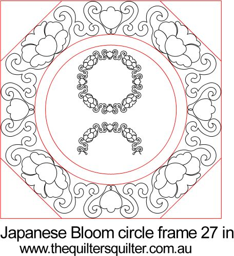 Japanese Bloom circle Frame 27in