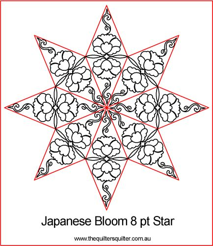 Japanese Bloom 8pt Star