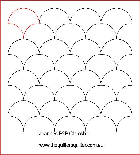 Clamshell pattern