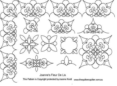 The Quilter's Quilter :: Digital Quilting Patterns :: Pattern ... : fleur de lis quilt pattern - Adamdwight.com