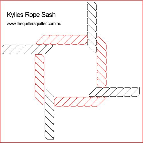 Kylies Interlocking Rope Sash