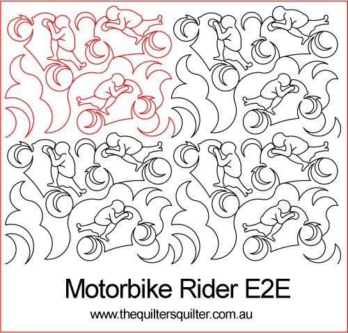 Motorbike rider e2e