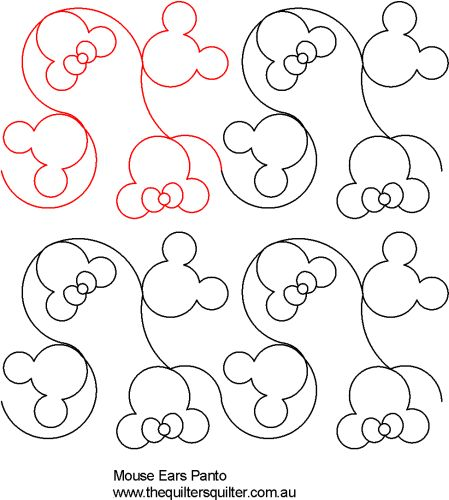 Long Arm Digital Quilting Designs : The Quilter s Quilter :: Digital Quilting Patterns :: Pantographs :: Kids :: Mouse ears panto