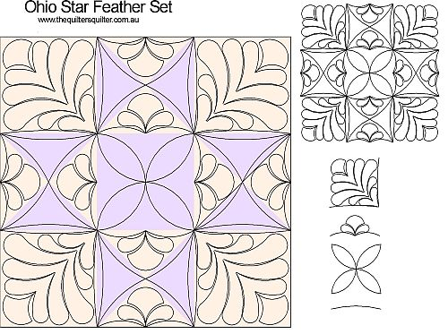 Ohio Star Feather set