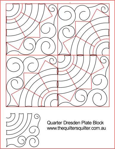 Quarter Dresden Plate Block