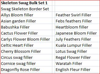 Skeleton Swag Bulk Set 1