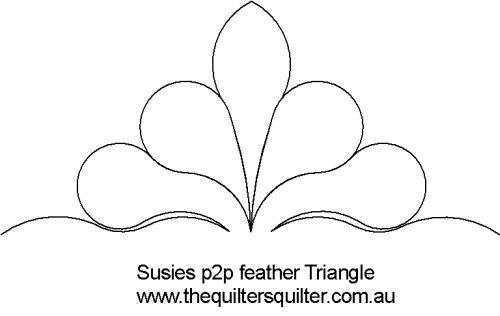 Susies p2p feather Triangle