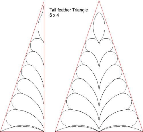 Tall feather Triangle 6x4