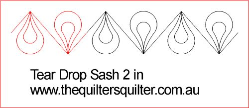 Tear Drop Sash 2in