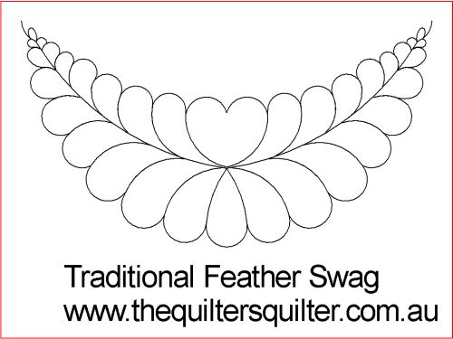 Traditional Feather swag