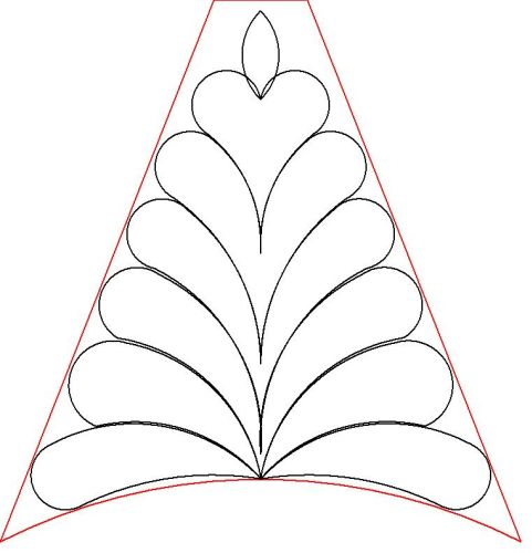 Veronicas triangle feather