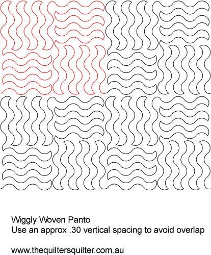 Wiggly woven panto