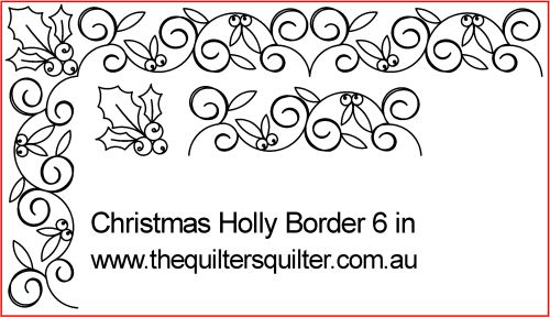 Xmas Holly Border 6 in