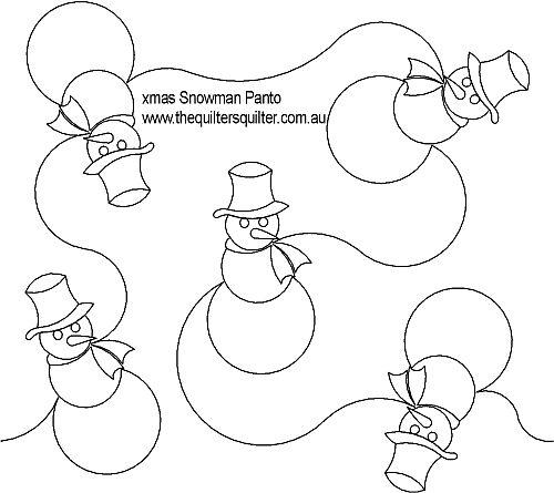 Xmas Snowman panto