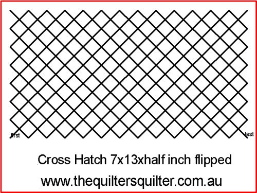 Cross Hatch jk 7x13xhalf inch flipped