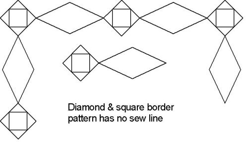 Diamond and Square border