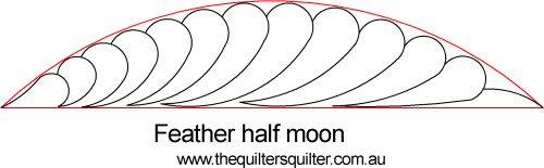 Feather Half moon