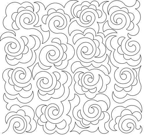 Feathered swirl panto