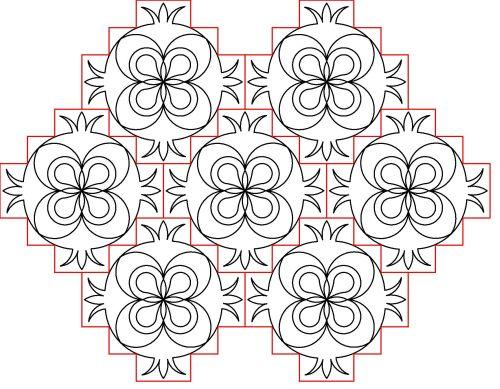 Folk Flowerblock 3