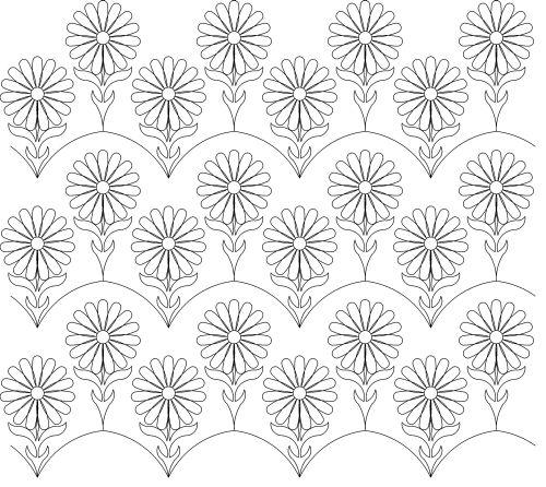 Interlocking bloom panto