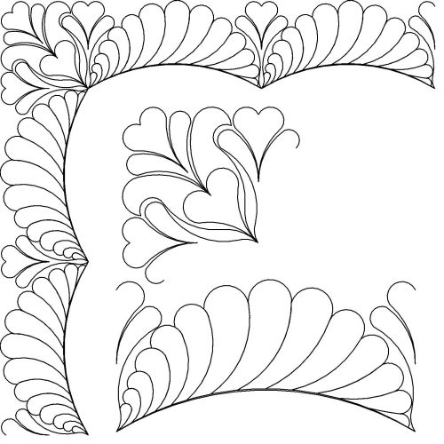 feathered heart border