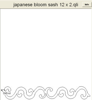 "Japanese Bloom sashing 12"" x 2"""
