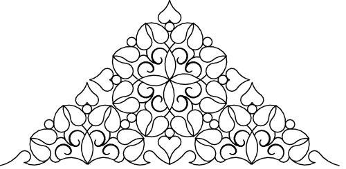 Leafy Heart xlarge triangle