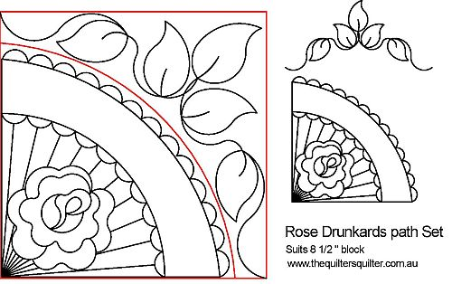 Rose Drunkards Path Set