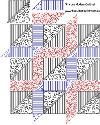 The Quilter s Quilter :: Digital Quilting Patterns :: Unusual Shape Patterns :: Sharons modern ...