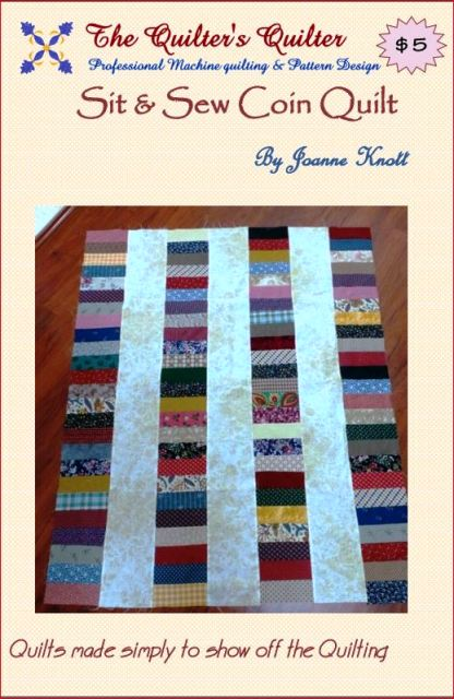 Sit and Sew Coin Quilt Pattern