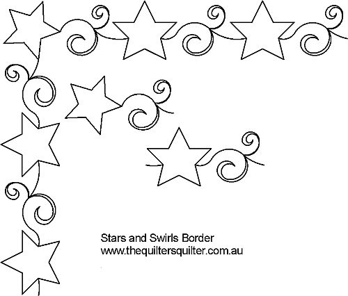 Star and swirl border