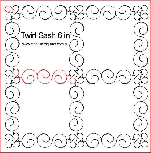 Twirl Sash P2P 6in