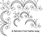 Belinda's Floral Feather swag