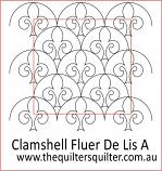Clamshell Fluer de Lis