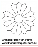 Dresden Plate with points