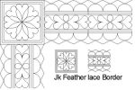 Feather lace Border