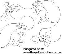Kangaroo Santa panto