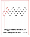 Staggered Diamonds Key