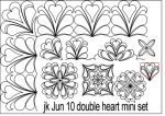 Double heart mini set