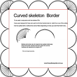 Curved Skeleton Border